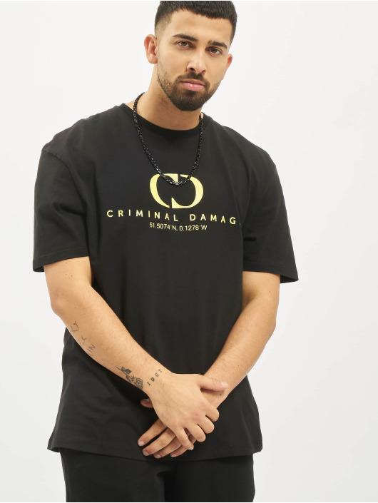 Criminal Damage T-shirt Coordinate Oversize nero
