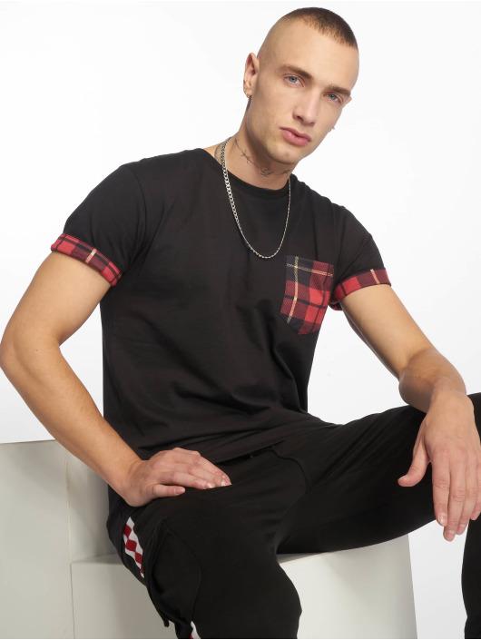 Criminal Damage T-Shirt Check Pocket schwarz