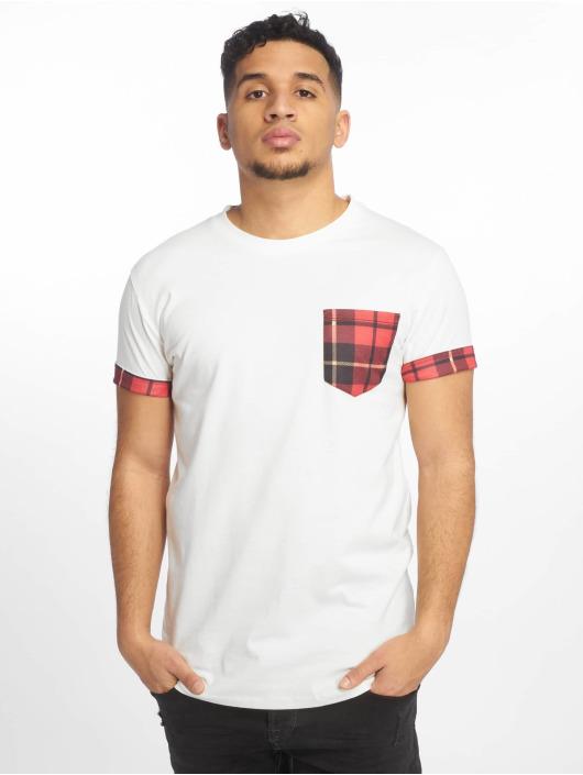 Criminal Damage T-Shirty Check Pocket bialy