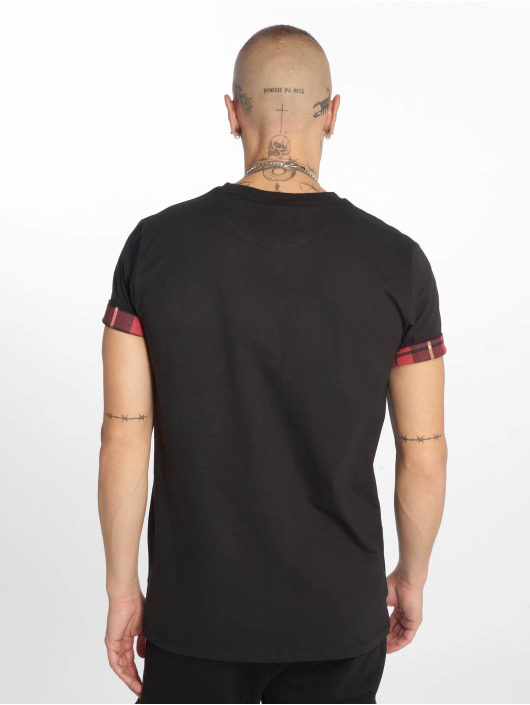 Criminal Damage T-Shirty Check Pocket czarny