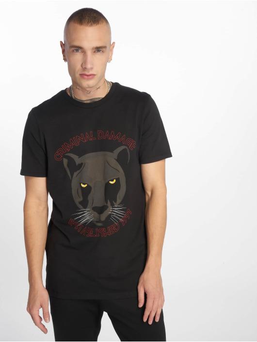 Criminal Damage T-Shirty Panther czarny
