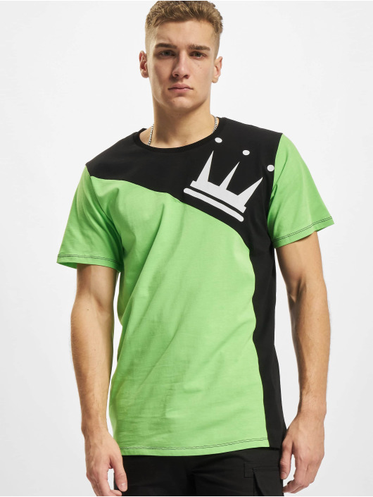 Dada Supreme T-Shirt Supreme Color Blocking Crown vert