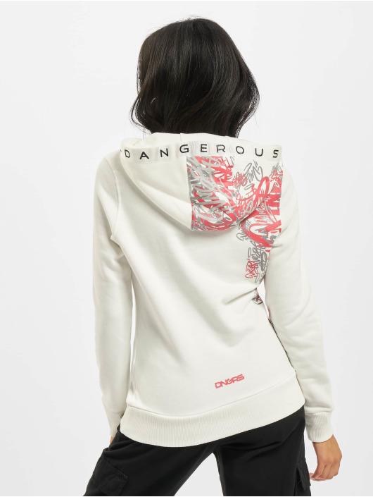 Dangerous DNGRS Bluzy z kapturem Tagg Basic bialy