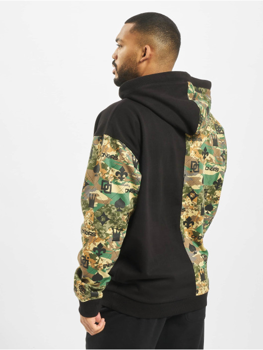 Dangerous DNGRS Hoodie Half Crown & King camouflage