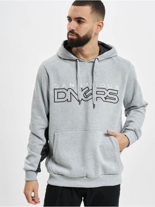 Dangerous DNGRS Hoody Wintersweat grau