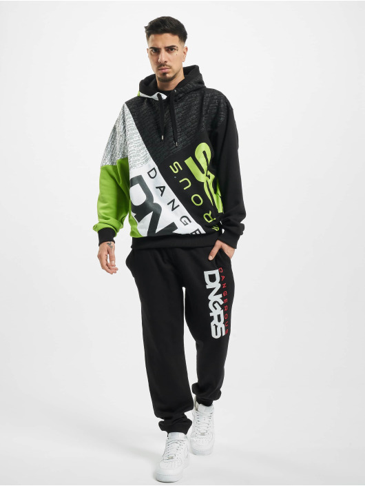 Dangerous DNGRS Hoody Crossed Block schwarz