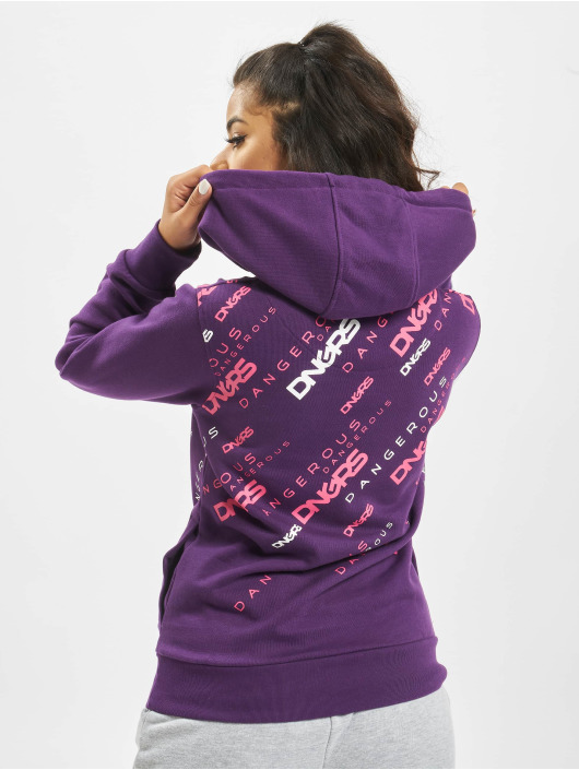 Dangerous DNGRS Hoody Down to Earth violet