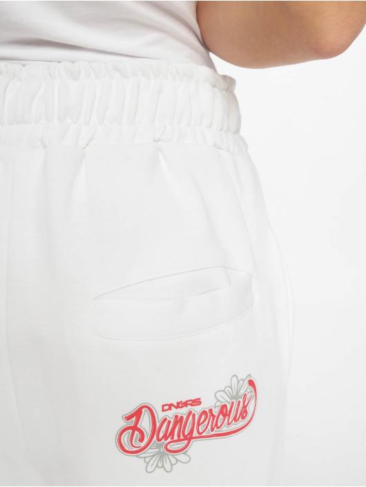 Dangerous DNGRS Jogging kalhoty Flower bílý