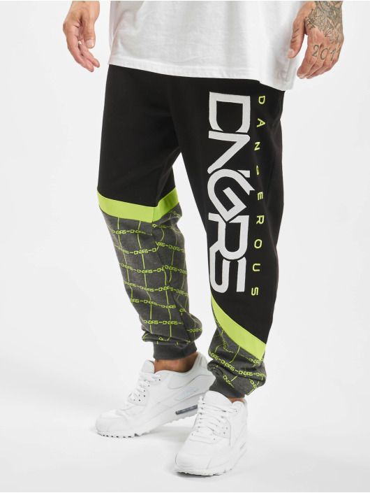 Dangerous DNGRS joggingbroek Woody zwart