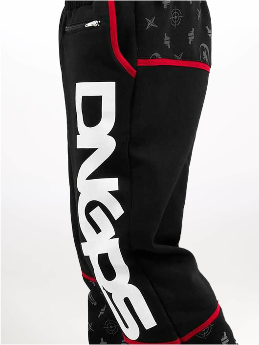 Dangerous DNGRS Jogginghose Crosshair Baggyfit Sweat Pants schwarz
