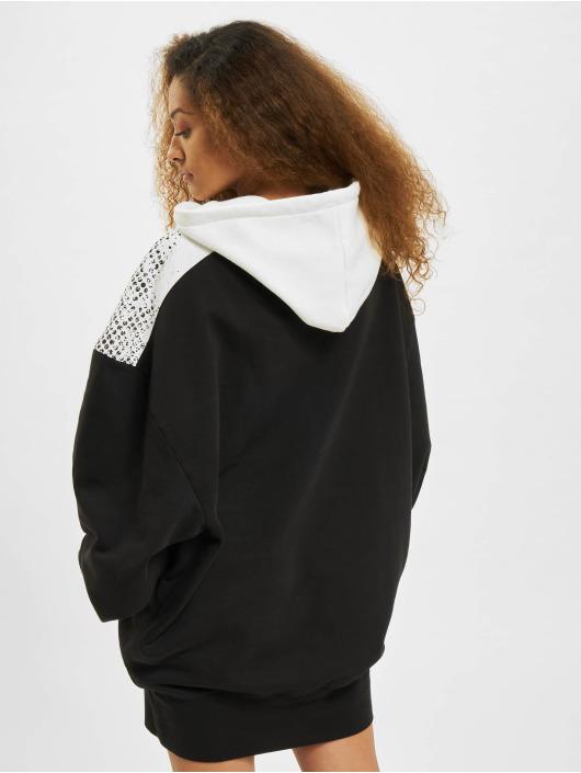 Dangerous DNGRS Kleid Fawn Oversize Hooded schwarz