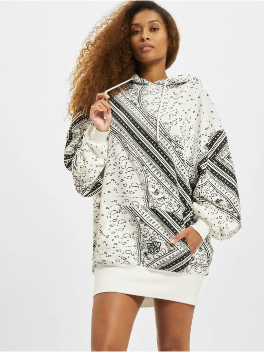 Dangerous DNGRS Kleid Paisly Oversize Hooded schwarz