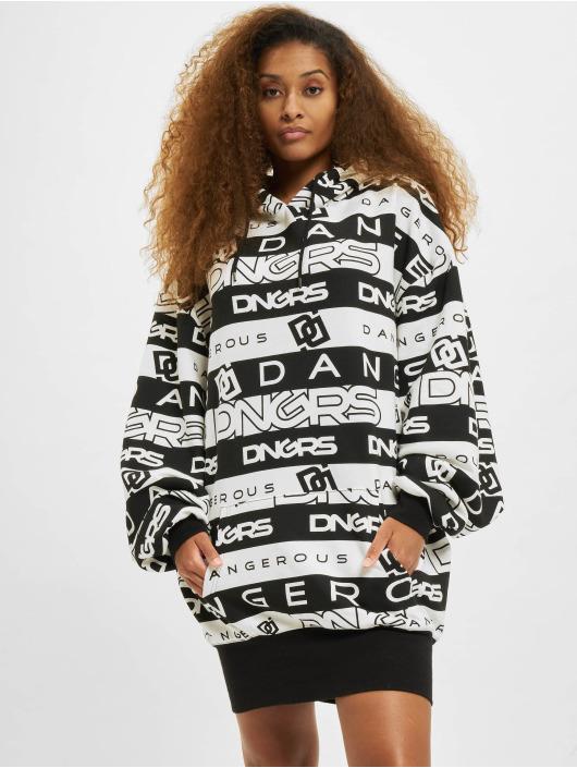 Dangerous DNGRS Kleid Tracks Oversize Hooded schwarz