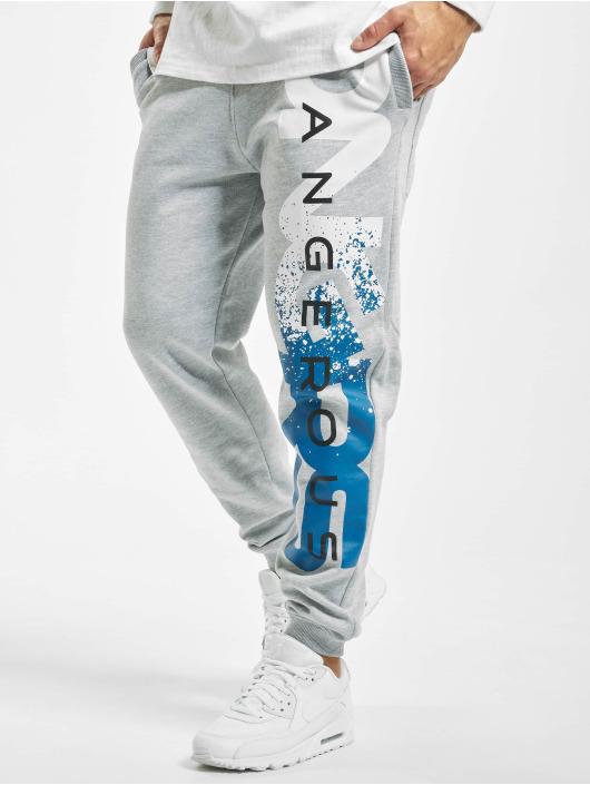 Dangerous DNGRS Pantalone ginnico Hyena grigio
