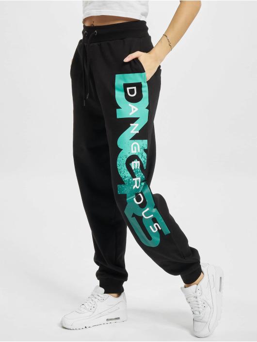 Dangerous DNGRS Pantalone ginnico Hyena nero