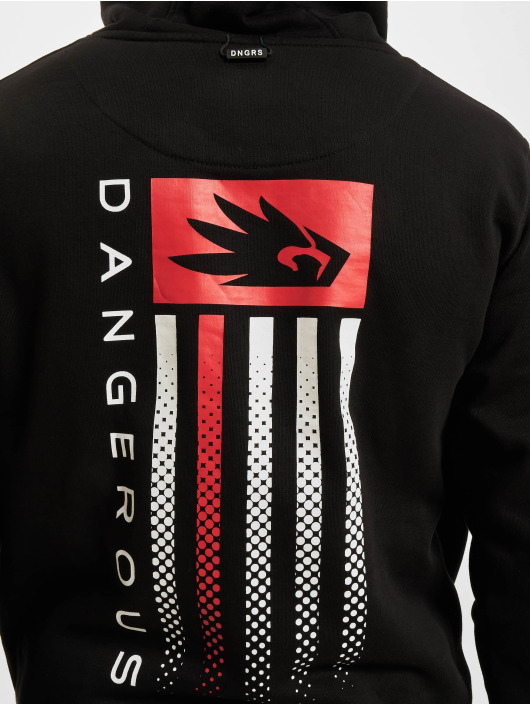 Dangerous DNGRS Pullover US Dots schwarz