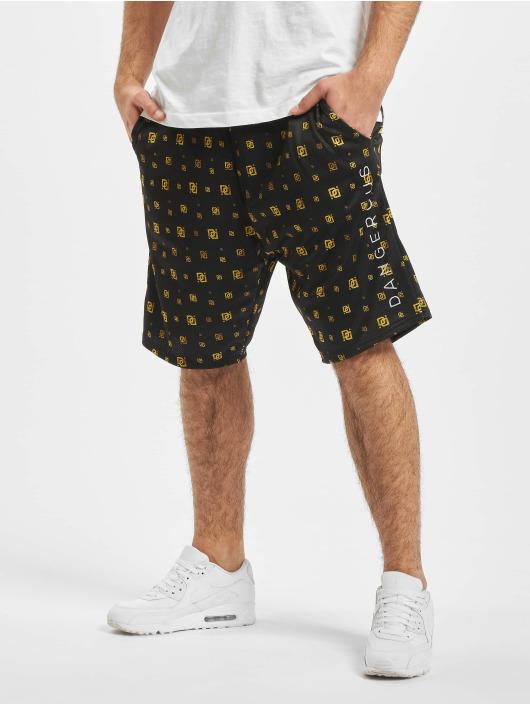 Dangerous DNGRS Shorts Goldpattern schwarz