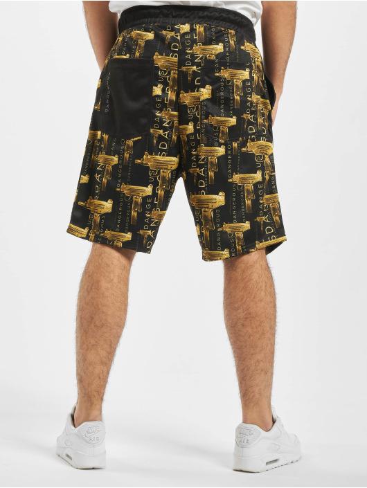 Dangerous DNGRS Shorts Goldgun schwarz
