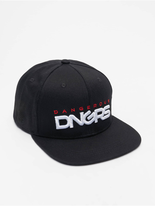 Dangerous DNGRS Snapback Caps Base musta