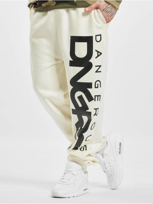 Dangerous DNGRS Spodnie do joggingu Classic bialy