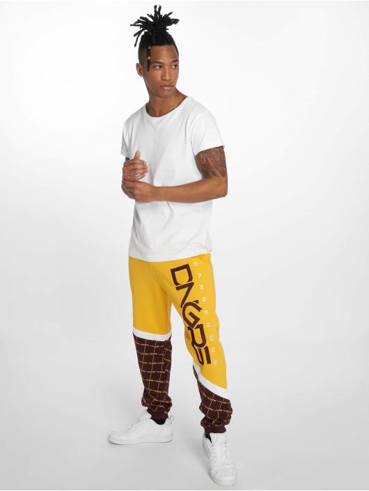 Dangerous DNGRS Spodnie do joggingu Woody zólty