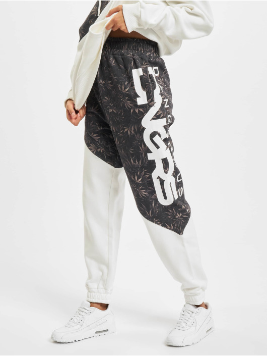Dangerous DNGRS Sweat Pant Blackweed Basic white