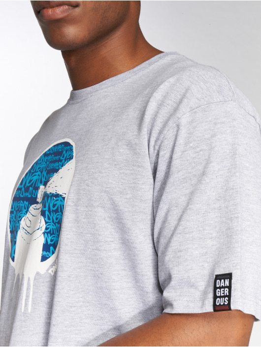 Dangerous DNGRS T-Shirt Spray grau