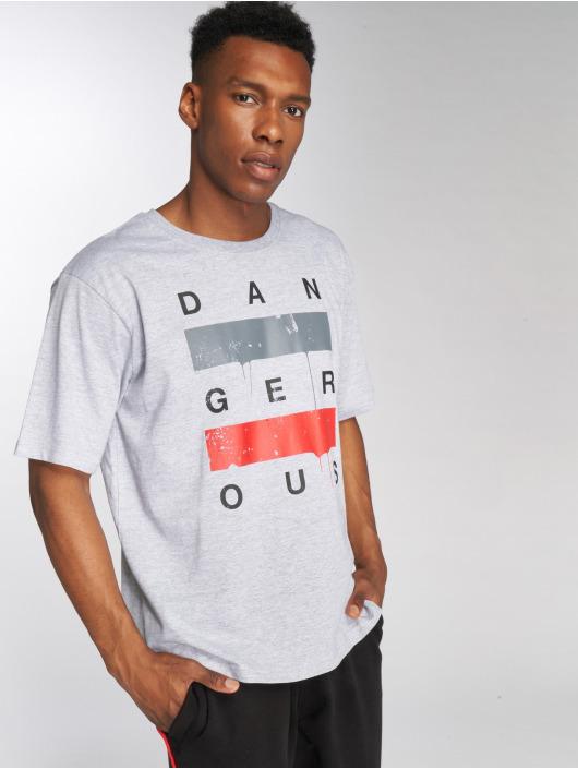 Dangerous DNGRS T-skjorter Uncaged grå