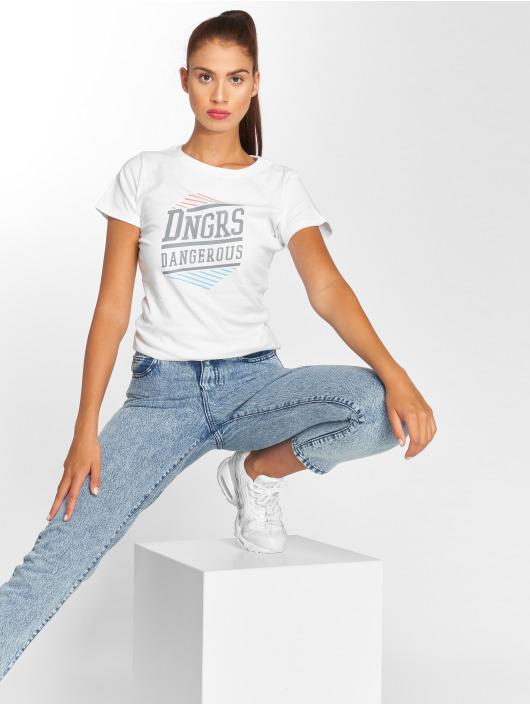 Dangerous DNGRS T-skjorter Tackle hvit
