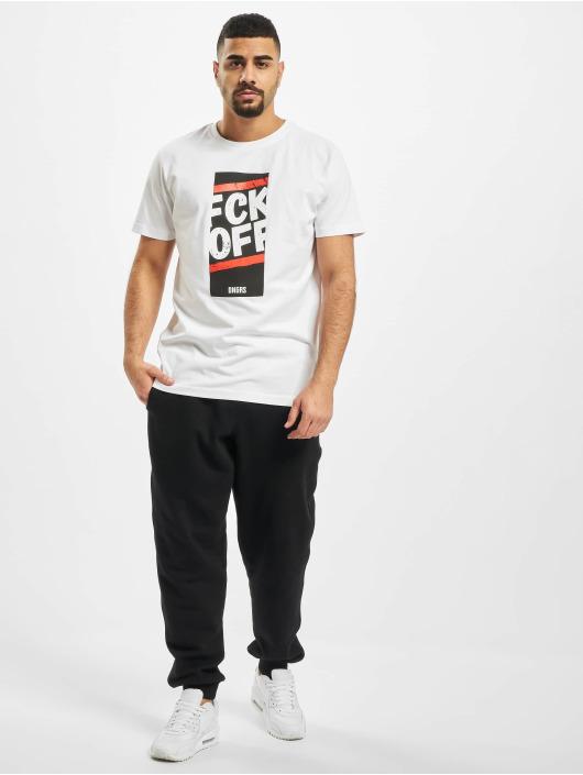 Dangerous DNGRS T-skjorter Fck Off hvit