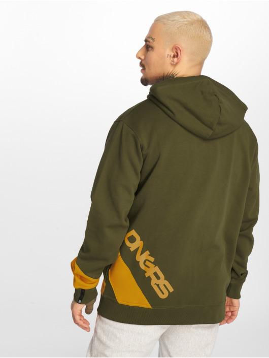 Dangerous DNGRS Zip Hoodie Strip Zip oliwkowy