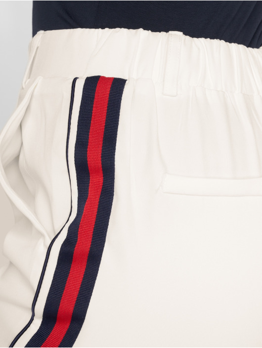 Danity Paris Cargo Nohavice Stripe biela