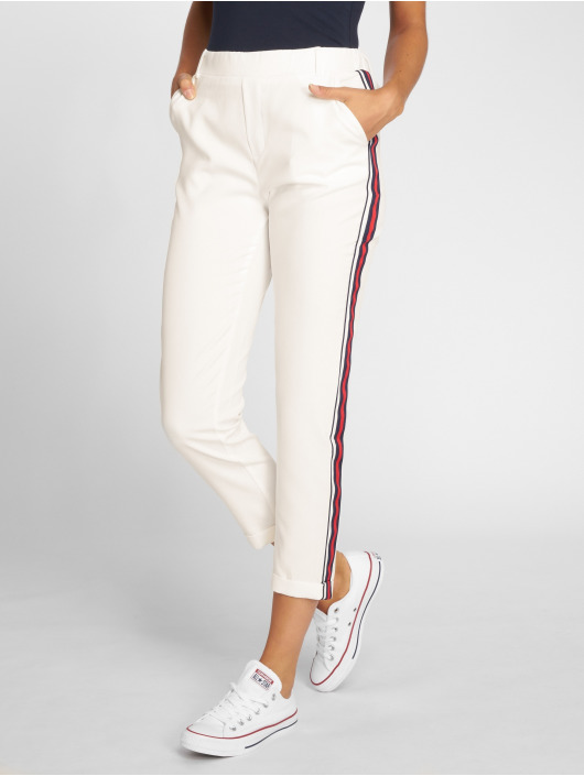 Danity Paris Pantalon chino Stripe blanc