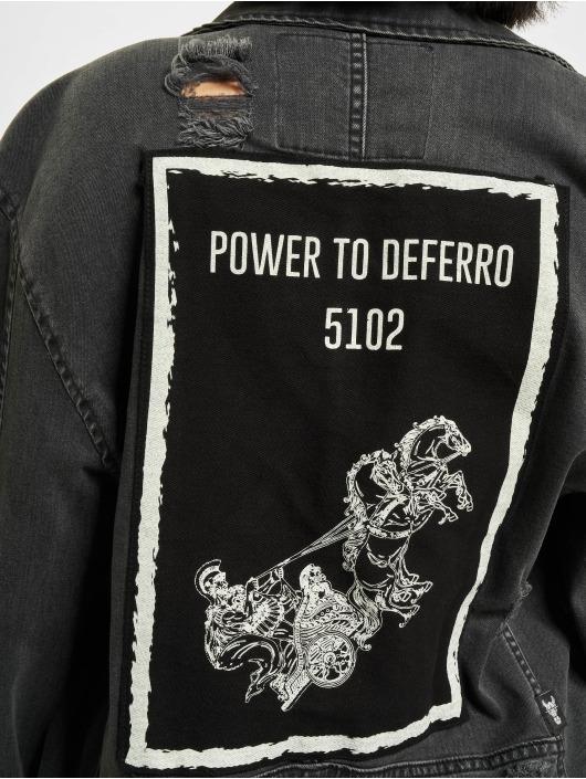De Ferro джинсовая куртка Inner Explosion черный