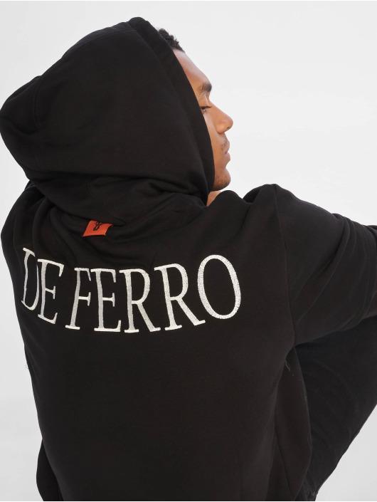 De Ferro Bluzy z kapturem Arm B Hood czarny