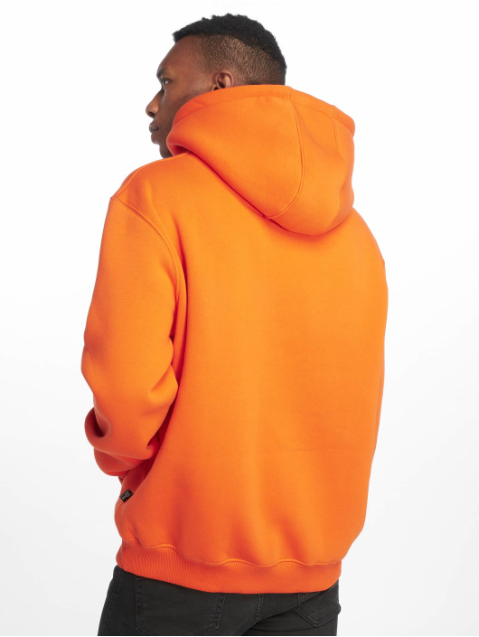 De Ferro Bluzy z kapturem Hood Word Orange pomaranczowy