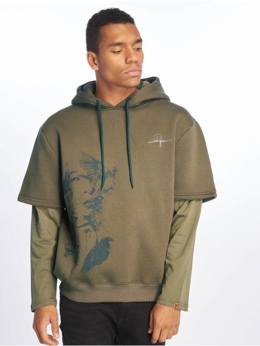 De Ferro Bluzy z kapturem Arm B Hood zielony