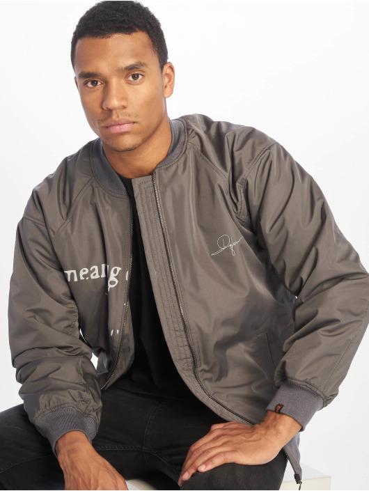 De Ferro Bomber jacket Word Bomb gray