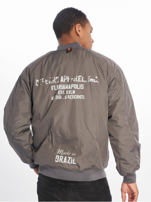 De Ferro Bomber jacket Word Bomb grey