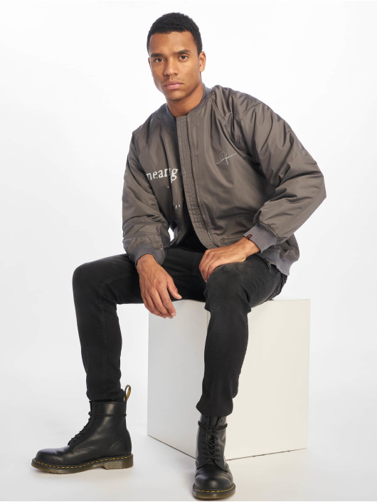 De Ferro Bomber jacket Word Bomb grey
