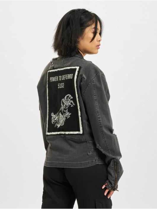 De Ferro Denim Jacket Inner Explosion black
