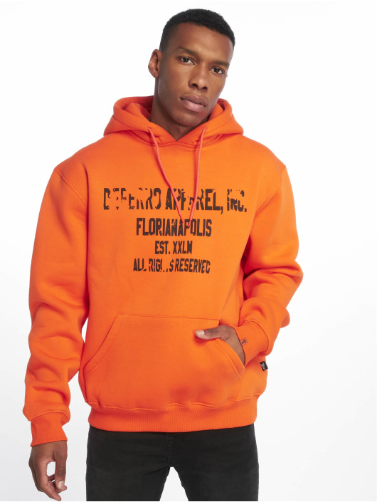 De Ferro Felpa con cappuccio Hood Word Orange arancio