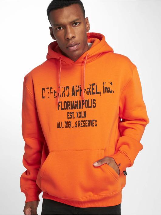 De Ferro Hoodie Hood Word Orange apelsin