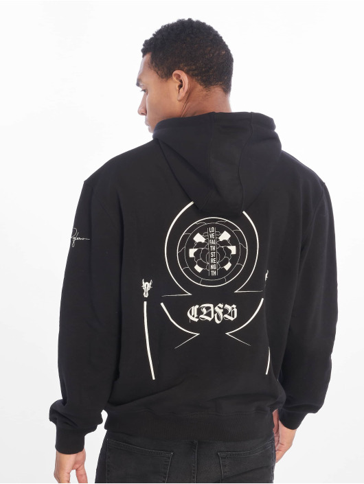 De Ferro Hoodie All Over Drip black