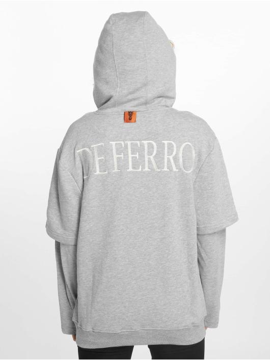 De Ferro Hoodie Arm B Hood grå