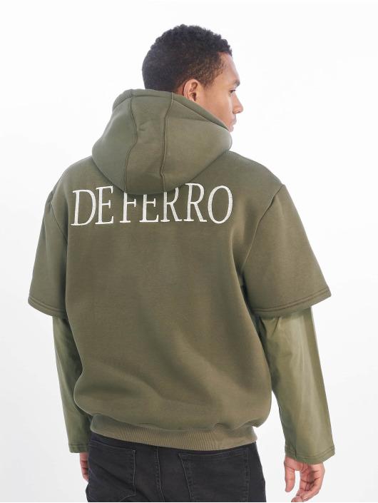 De Ferro Hoodie Arm B Hood grön