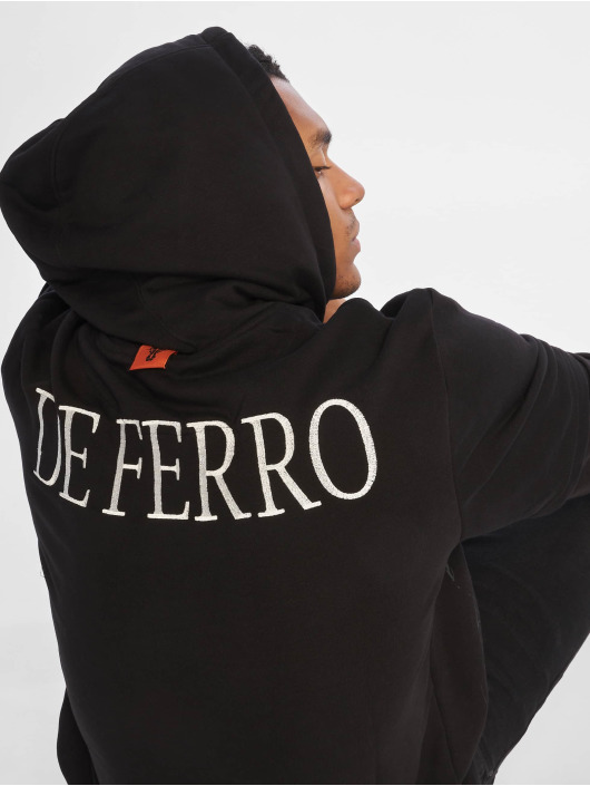De Ferro Hoodie Arm B Hood svart