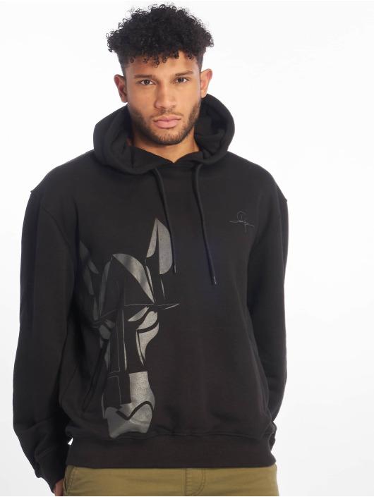 De Ferro Hoodies Straight Face Hood čern