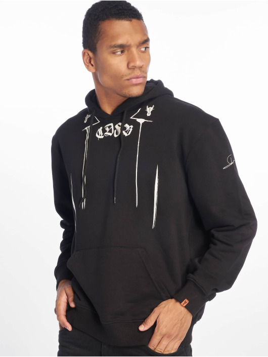 De Ferro Hoodies All Over Drip čern