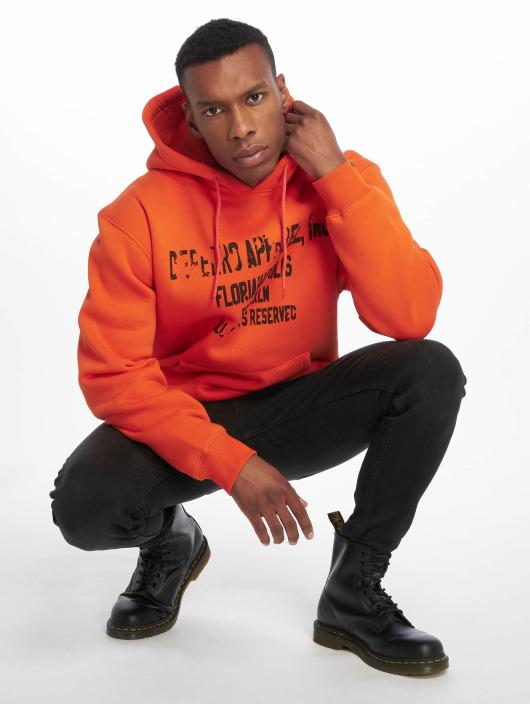 De Ferro Hoody Hood Word Orange orange